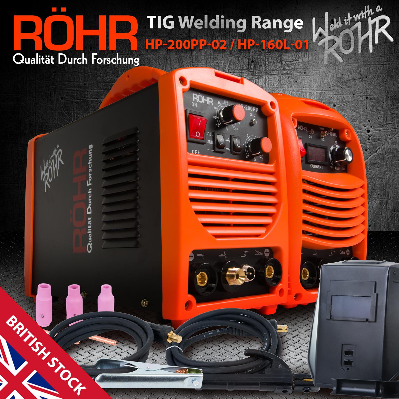 Details about ROHR TIG MMA Inverter Welding Welder Machine (HP-200PP /  160L) Portable Welders